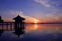 滋賀県 大津市 満月寺 浮御堂 朝景