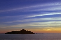 沖縄県 屋嘉比島と雲 サンセット 座間味島