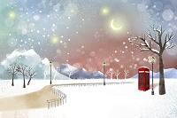 雪の公園 イラスト