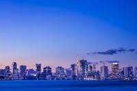 東京都 湾岸高層ビル群の夕景