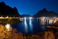 ノルウェー レイネの夜景