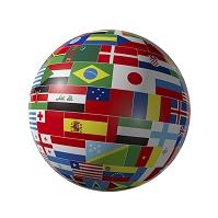 国旗の地球