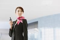 グランドスタッフの日本人女性