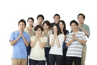 応援する日本人サポーター