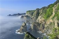 岩手県 海霧の北山崎の海岸