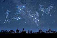 夜空にいろんな星座