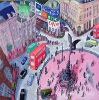 Piccadilly Circus, 2008 (oil on canvas)