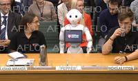 ヒト型ロボット「ペッパー」 英議会デビュー