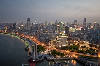 上海 外灘街並俯瞰夜景