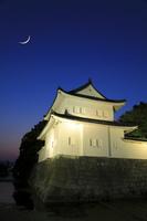 京都府 二条城 夕暮れの東南隅櫓