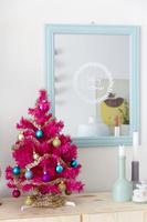 クリスマス飾り ピンクのクリスマスツリー