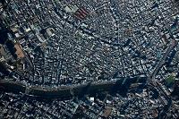市ヶ谷、飯田橋、牛込周辺(俯瞰撮影高度2,000mより撮影)