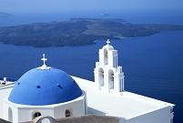 ギリシャ・サントリーニ島 教会と鐘楼