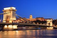 ハンガリー ブダペスト ドナウ川 くさり橋 王宮