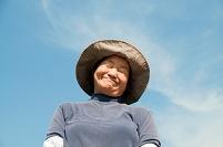 農家の日本人女性