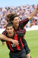 サッカー 喜びを分かち合う選手