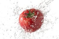 水流とトマト