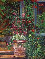 デイヴィッド・ロイド・グローバー 「POT OF FUSCHIA FLOWERS」