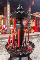 台湾 龍山寺 後殿の燭台