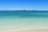 沖縄県 伊江島と海
