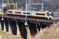 奈良県 近畿日本鉄道 鉄橋を渡る22000系特急Ace