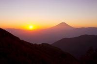富士山 朝日 富士川町 山梨県