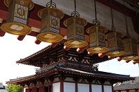 大阪府 四天王寺境内 東重門から講堂を見る