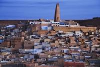 アルジェリア ムザブの谷 ガルダイアの町並み/夜明け