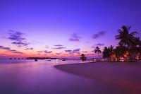 モルディブ リゾートの夕焼け