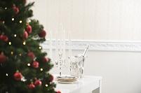クリスマスツリーとテーブルコーディネート