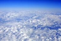 上空からの雲