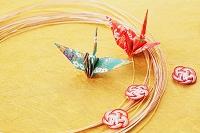 日本 水引と折り鶴