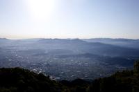 葛城山から望む奈良県御所市