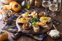 フランス料理 柿のタルティーヌ