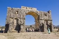 モロッコ ヴォルビリス遺跡 カラカラ帝の凱旋門
