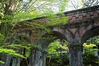 京都府 新緑の南禅寺 水路閣