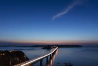 山口県 角島大橋と角島 夕方