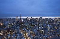夕景の東京