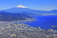 静岡県 富士山(清水市上空付近より)