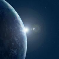 地球の夜明け CGイメージ