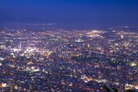 北海道 藻岩山より札幌市街の夜景