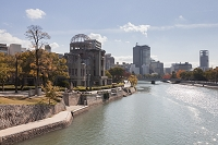 広島県 原爆ドームと元安川