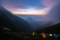 五竜山荘の夕暮れ