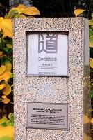 東京都 日本橋 日本の道100選 石碑