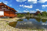 奈良県 平城宮跡東院庭園秋晴れ