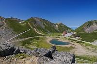 岐阜県 大黒岳から鶴ヶ池と畳平バスターミナル 乗鞍岳