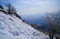滋賀県 伊吹山 雪山9合目