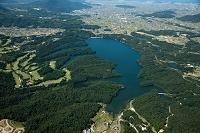 満濃池(日本最大の灌漑用のため池)周辺