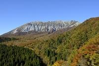 江府町 青空と紅葉の大山