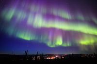 極北アラスカに舞うオーロラ